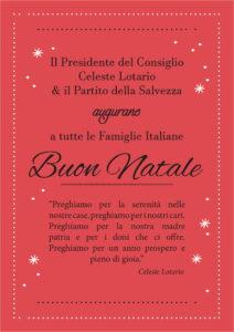 """25/12/2025 - Manifesto """"Tanti auguri di buon Natale"""""""